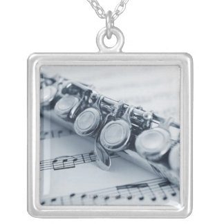 Detailed Flute Silver Plated Necklace