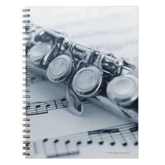 Detailed Flute Spiral Notebook