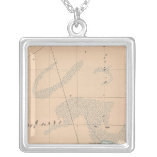 Detailed Geology Sheet IX Silver Plated Necklace