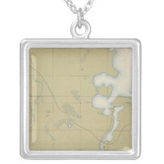 Detailed Geology Sheet VI Silver Plated Necklace