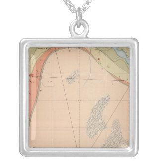 Detailed Geology Sheet VII Silver Plated Necklace