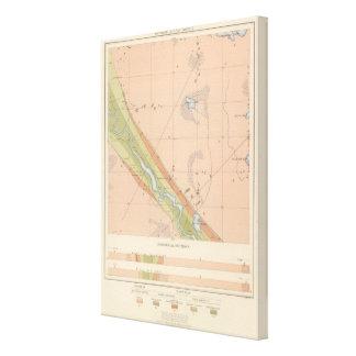 Detailed Geology Sheet X Canvas Print
