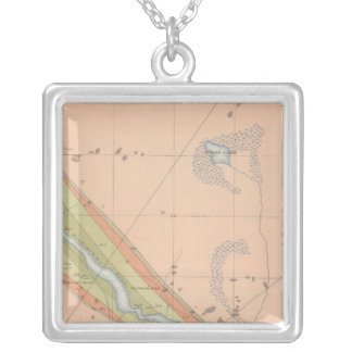 Detailed Geology Sheet X Silver Plated Necklace