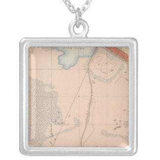 Detailed Geology Sheet XIII Silver Plated Necklace