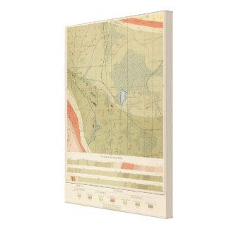 Detailed Geology Sheet XIX Canvas Print