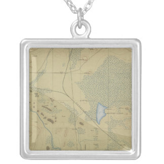 Detailed Geology Sheet XIX Silver Plated Necklace