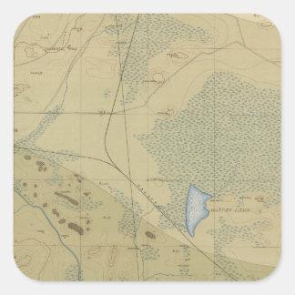 Detailed Geology Sheet XIX Square Sticker