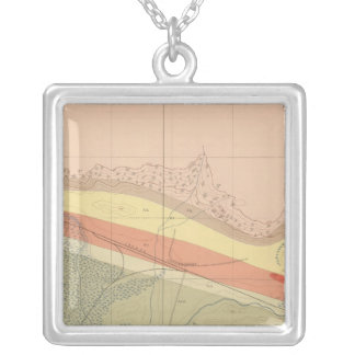 Detailed Geology Sheet XV Silver Plated Necklace