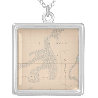 Detailed Geology Sheet XVII Silver Plated Necklace