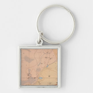 Detailed Geology Sheet XXI Silver-Colored Square Key Ring