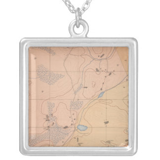 Detailed Geology Sheet XXI Silver Plated Necklace