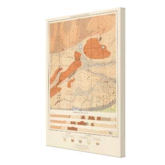 Detailed Geology Sheet XXIV Canvas Print