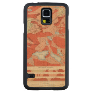Detailed Geology Sheet XXVIII Carved Maple Galaxy S5 Case