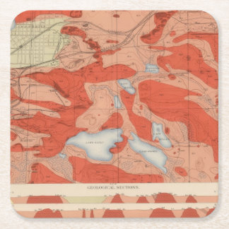 Detailed Geology Sheet XXVIII Square Paper Coaster