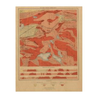 Detailed Geology Sheet XXVIII Wood Print