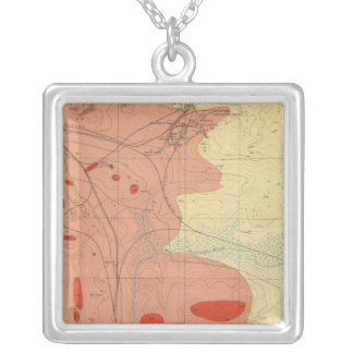 Detailed Geology Sheet XXXI Silver Plated Necklace