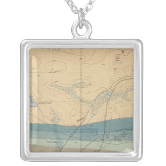 Detailed Geology Sheet XXXIII Silver Plated Necklace