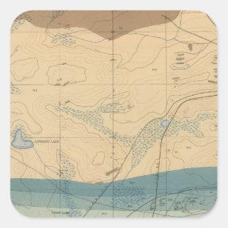 Detailed Geology Sheet XXXIII Square Sticker