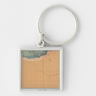 Detailed Geology Sheet XXXIX Silver-Colored Square Key Ring