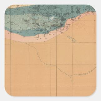 Detailed Geology Sheet XXXIX Square Sticker