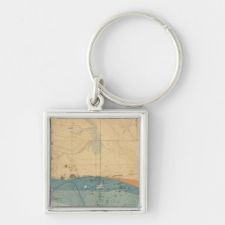 Detailed Geology Sheet XXXVI Silver-Colored Square Key Ring