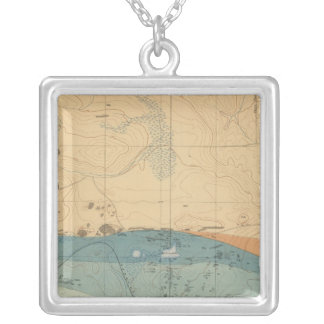 Detailed Geology Sheet XXXVI Silver Plated Necklace