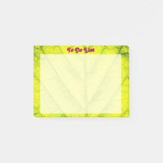 Detailed Green Leaf Pattern Post-it Notes