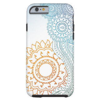 Detailed henna abstract sunrise tough iPhone 6 case
