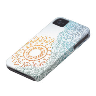 Detailed henna abstract sunrise Case-Mate iPhone 4 case