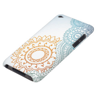 Detailed henna abstract sunrise iPod touch case