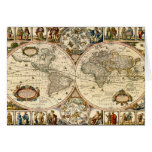 Detailed Historic Map Greeting Card