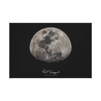 Detailed Moon Canvas Print