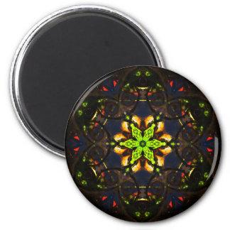 Detailed Mosaïc Star Mandala Magnet