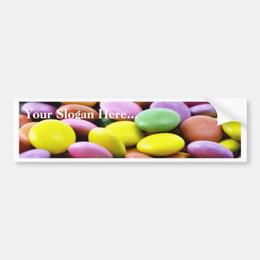 Detailed Photo Of Colorful Chocolate Bonbons Bumper Stickers