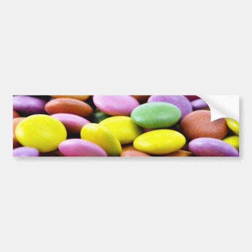 Detailed Photo Of Colorful Chocolate Bonbons Bumper Sticker