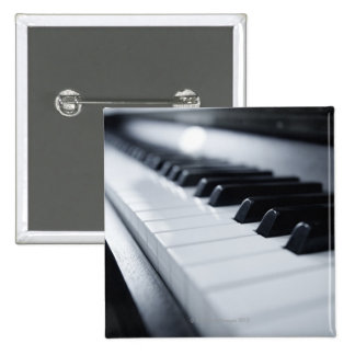 Detailed Piano Keys 15 Cm Square Badge