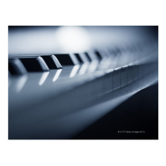 Detailed Piano Keys 2 Postcard