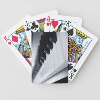 Detailed Piano Keys Bicycle Playing Cards