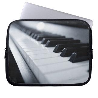 Detailed Piano Keys Computer Sleeves