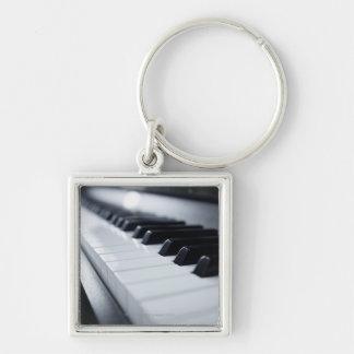 Detailed Piano Keys Key Ring