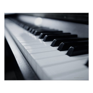 Detailed Piano Keys Poster
