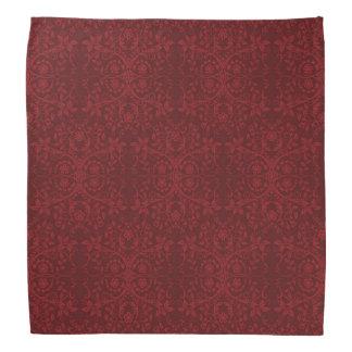 Detailed Red Floral Wallpaper Bandana