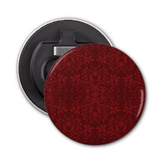 Detailed Red Floral Wallpaper Bottle Opener