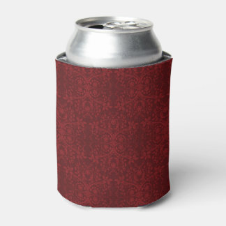 Detailed Red Floral Wallpaper Can Cooler