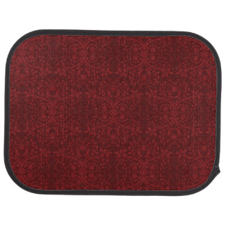 Detailed Red Floral Wallpaper Car Mat