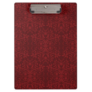 Detailed Red Floral Wallpaper Clipboard