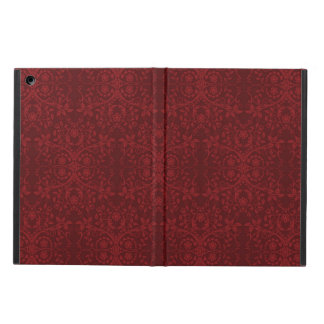 Detailed Red Floral Wallpaper Cover For iPad Air