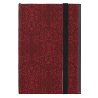 Detailed Red Floral Wallpaper Cover For iPad Mini