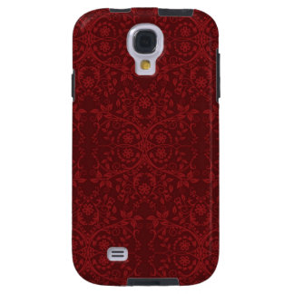 Detailed Red Floral Wallpaper Galaxy S4 Case