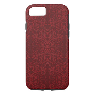 Detailed Red Floral Wallpaper iPhone 8/7 Case